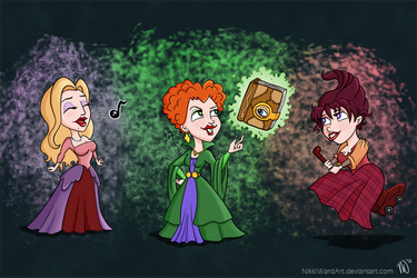 The Sanderson Sisters by NikkiWardArt