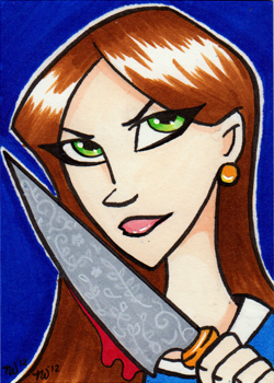 ALICE Sketch Card by NikkiWardArt