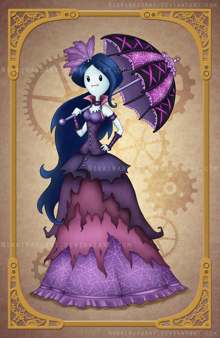 Steampunk Marceline by NikkiWardArt