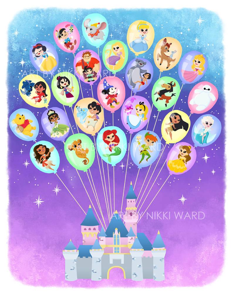 Disney Balloon Castle of Dreams