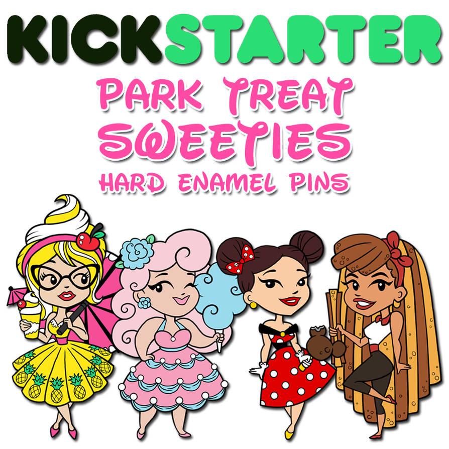 Park Treat Sweeties Hard Enamel Pins by NikkiWardArt