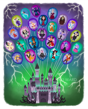 Disney Balloon Castle of Nightmares