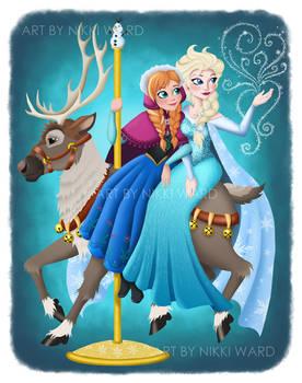 Elsa and Anna Carousel