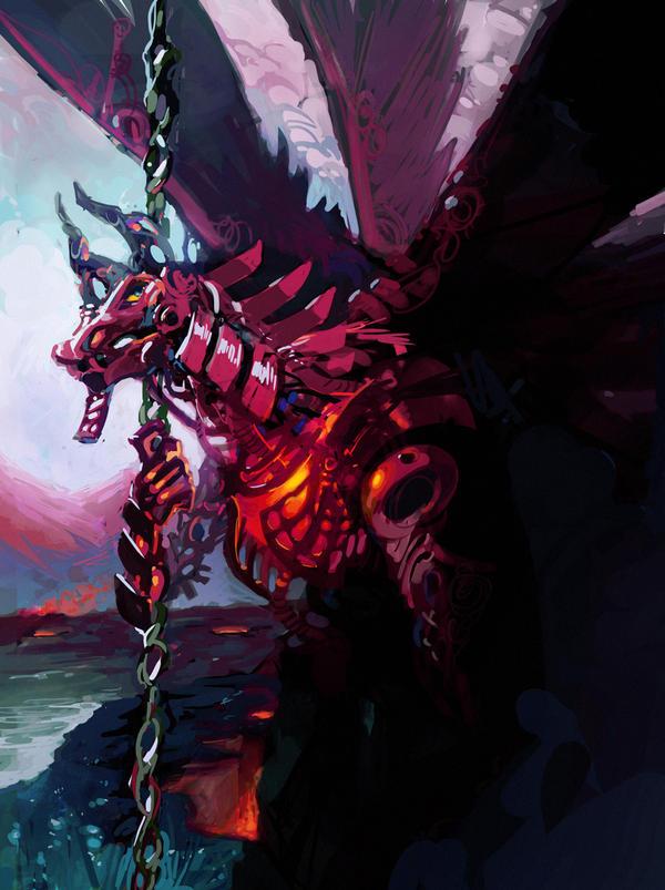 Robo Dragon Speedpaint by MoulinBleu