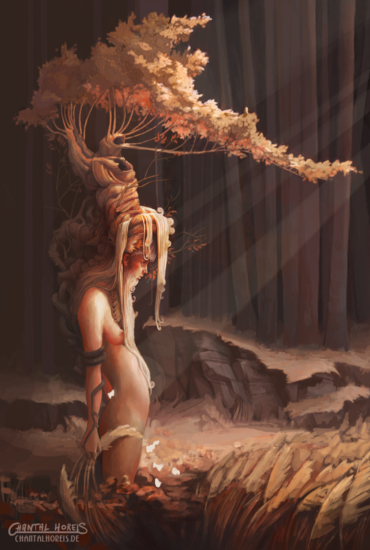 With A Tree On The Head by chantalhoreis