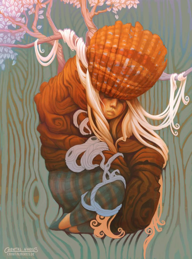 Curledup by chantalhoreis