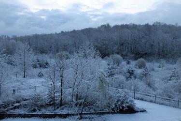 Snowy landscape April 2021