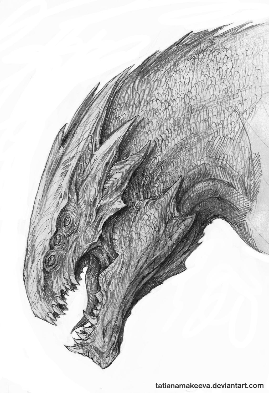 Dragon Sketch #2 By TatianaMakeeva On DeviantArt