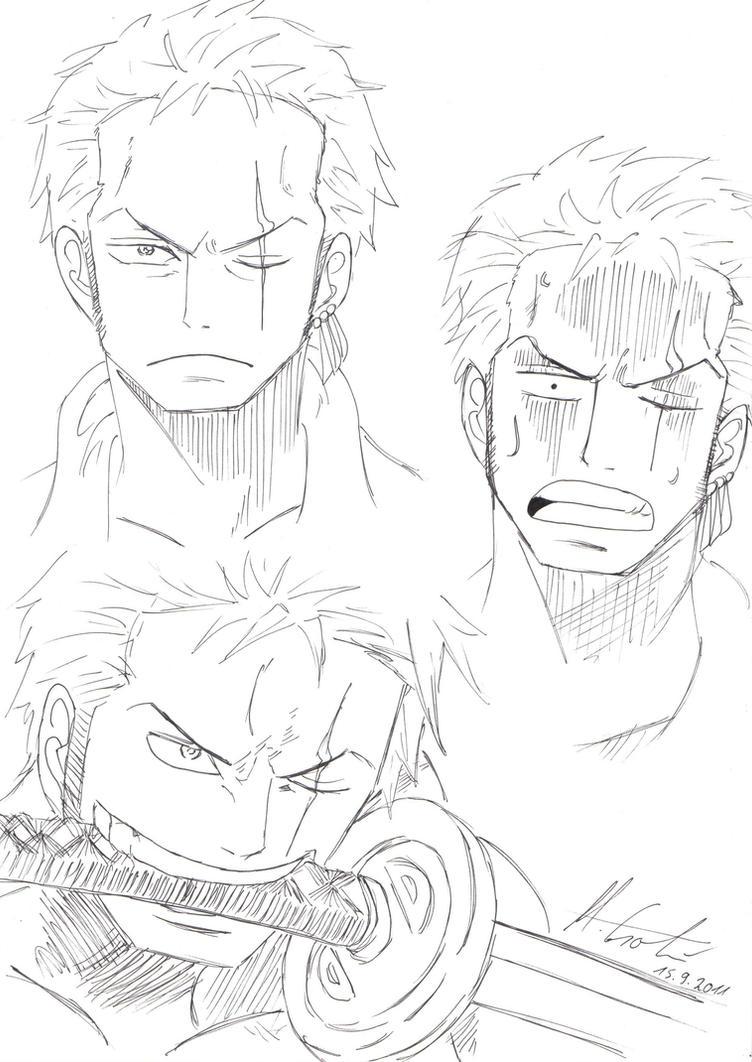 Zoro face drawing