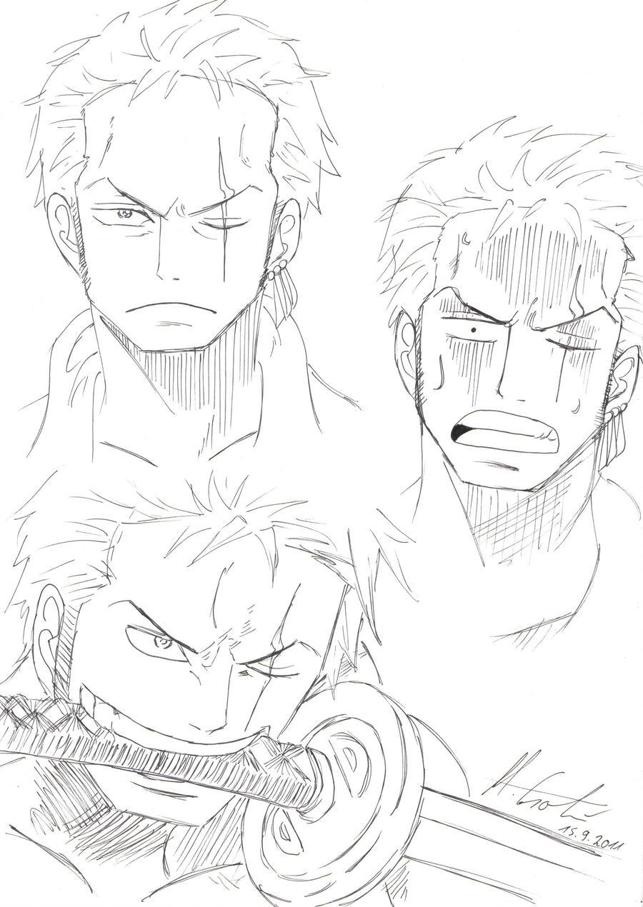 roronoa zoro face drawings by mellishu on deviantart