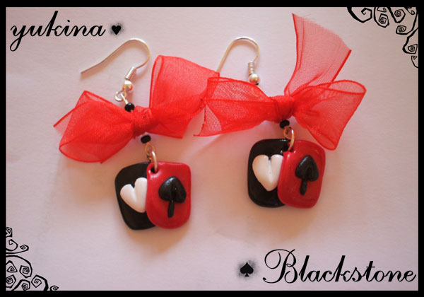 Red and Black Poker earrings by yukinaaa on DeviantArt