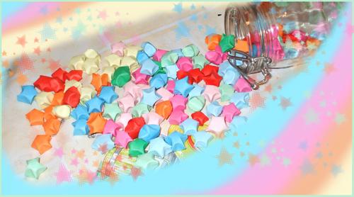 A rainbow of Origami Stars by yukinaaa