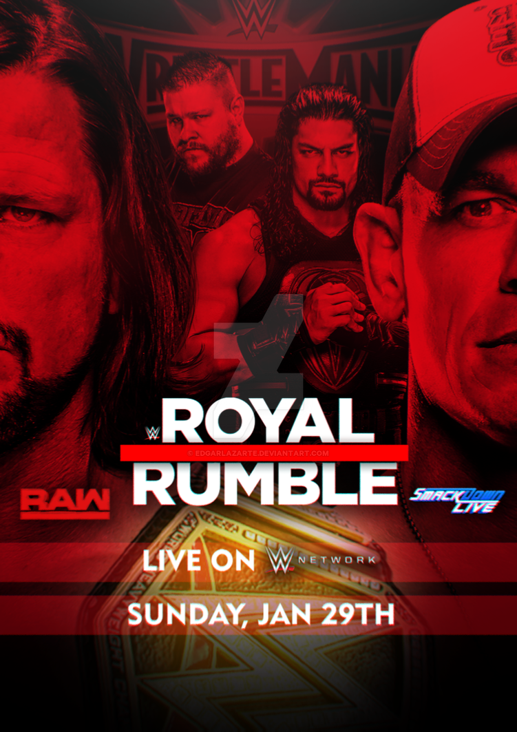 WWE Royal Rumble 2017 Custom Poster [HD] by EdgarLazarte