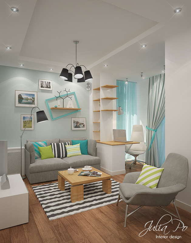 Small Bright Living Room - 1