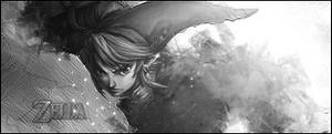 Zelda Link - Black And White by Grily