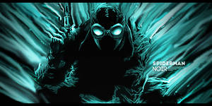 Spiderman Noir - Smudge Tag by Grily