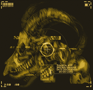 Sci-fi skull: yellow version