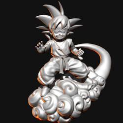 Kid Goku 3D Model