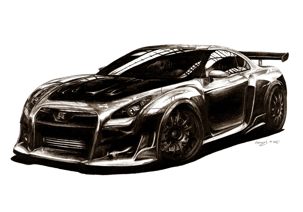 Nissan Gtr Amvdesigned By Medvezh On Deviantart