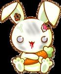 Kawaii zombie rabbit
