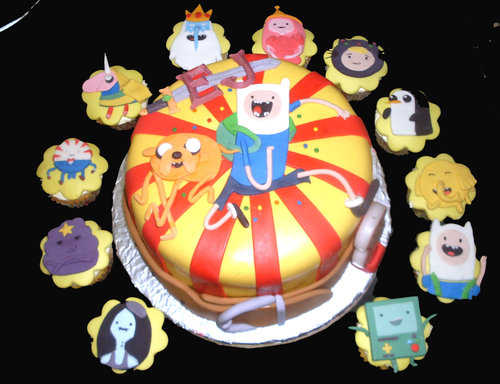 adventure time cake and cupcakes by dongalejar on deviantart