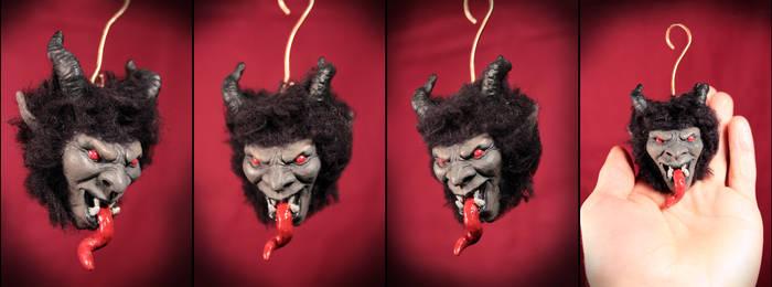 mini krampus ornament