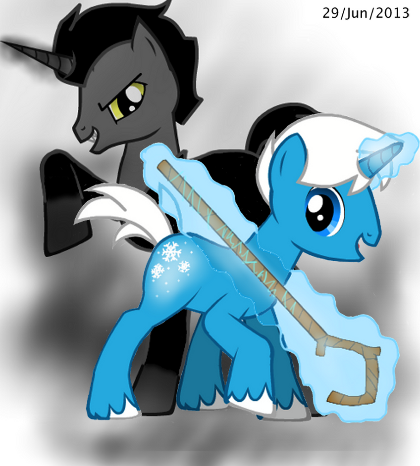 Ponyfied Pitch Black And Jack Frost by MurderousGirl97