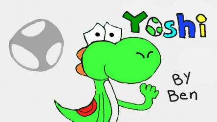 Colored Yoshi doodle (Miiverse reupload) by ToonGuy5