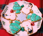 Christmas Cookie Plate by VengeanceIsForEver
