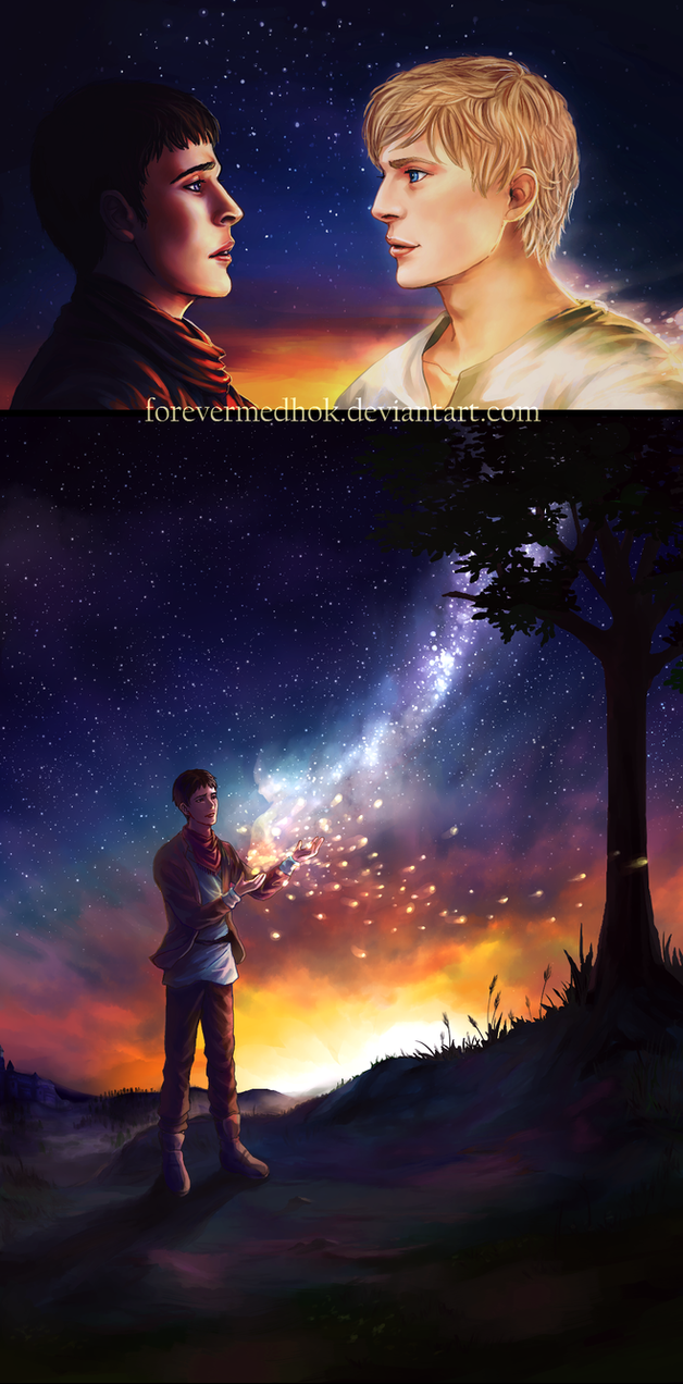 Merlin and Arthur by ForeverMedhok