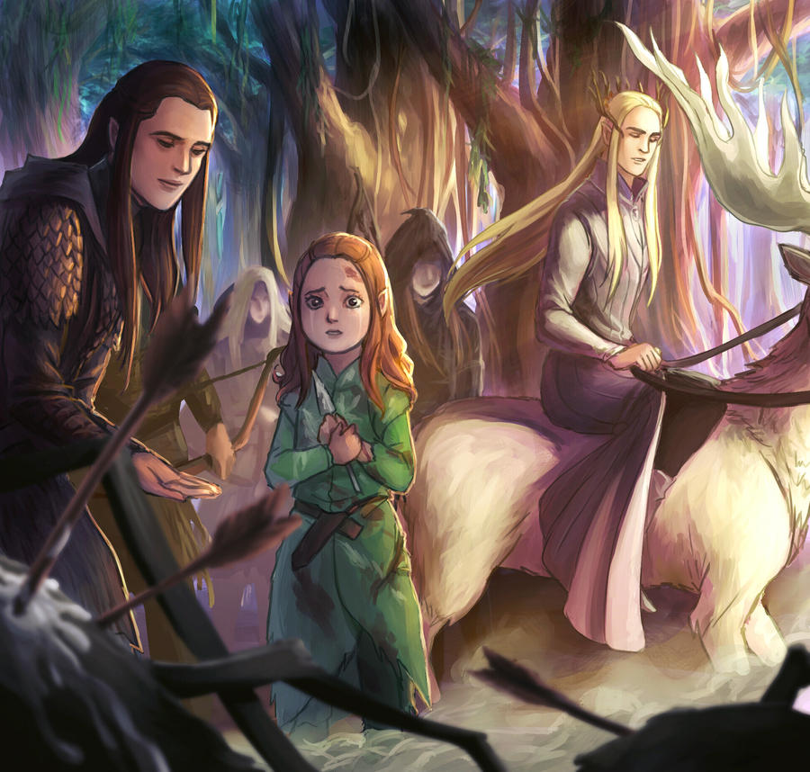 Tauriel Childhood by ForeverMedhok