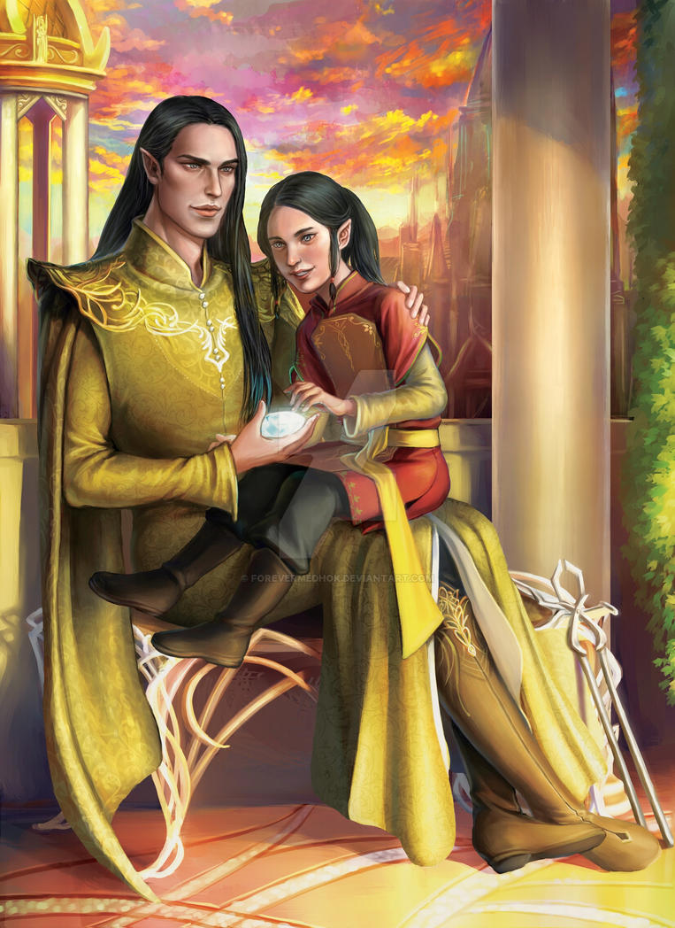 Commission : Feanor and Celebrimbor by ForeverMedhok