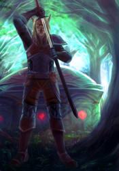 Commission : Dalhan the Elf Ranger by ForeverMedhok