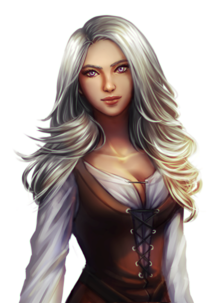 Commission Silver Haired Girl By Forevermedhok On Deviantart