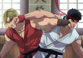 Commission : Ryu VS Ken