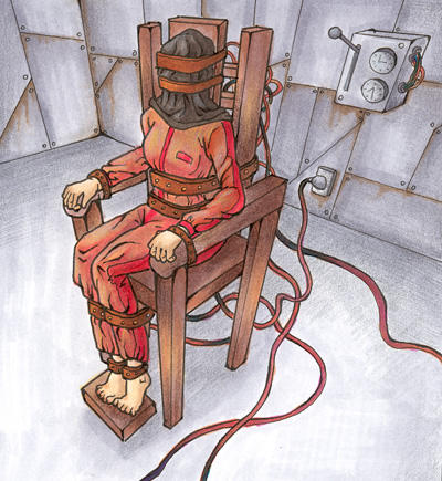 naked in the electric chair igfap Dragged to the Electric Chair Electric Chair Corpses
