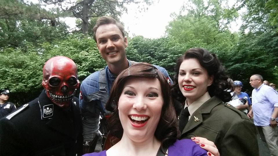 Red Skull and friends in Prospect Park by karkarodon