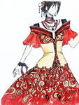 Red Evening Gown