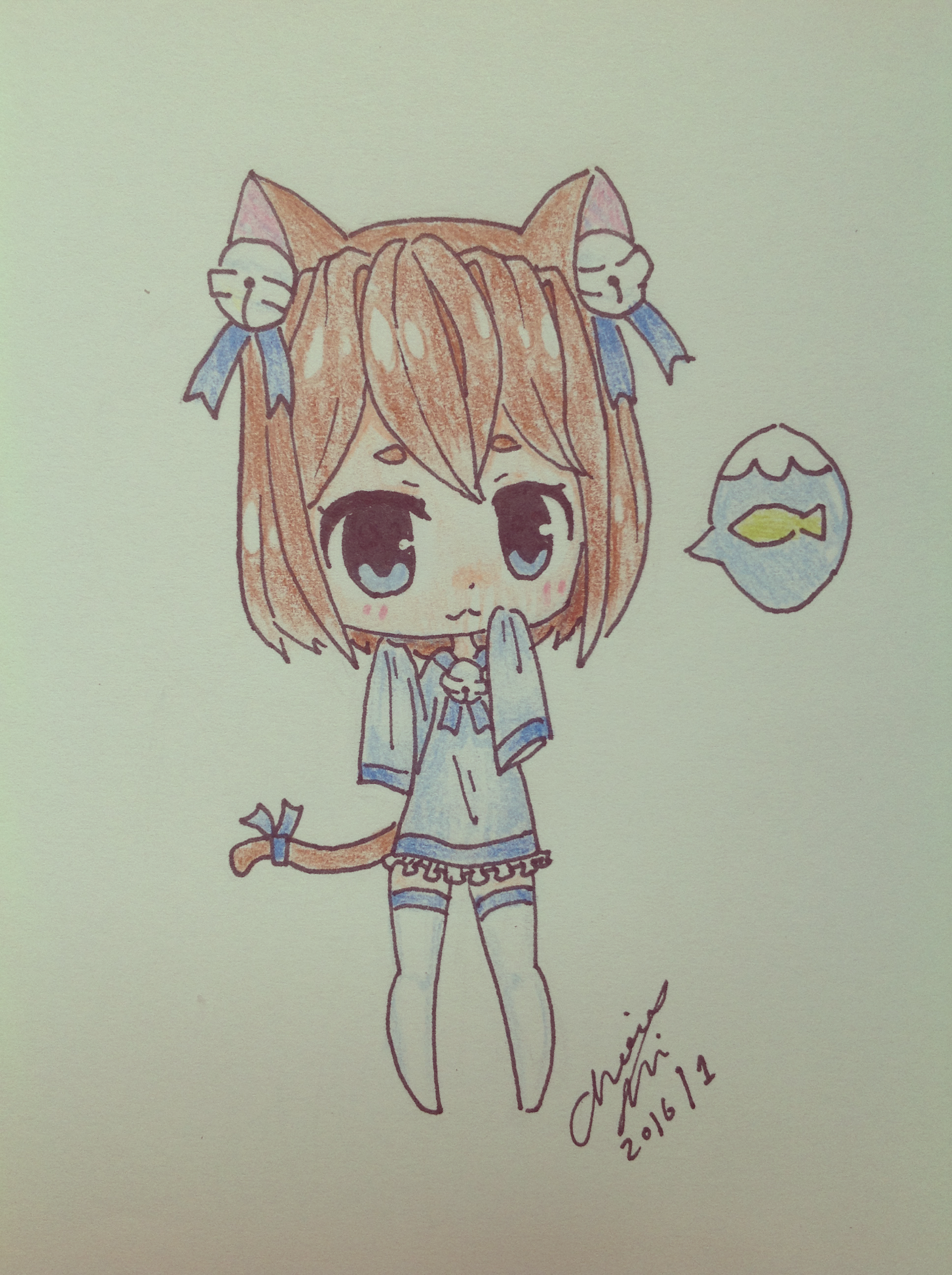 how to draw neko girl