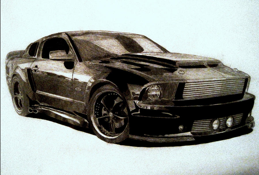 Cars Drawings Mustang Mustang gt Drawing by Zalmyw88