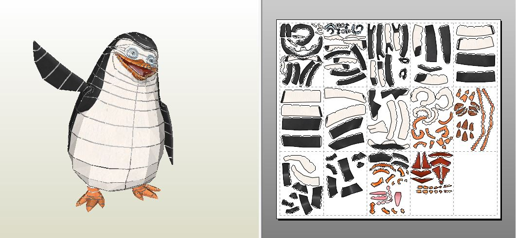 Papercraft Template Of Private Penguin By MRK On Deviantart