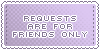Requests :: Friends Only || Art Status Stamp by Kiibun