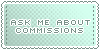 Commissions :: Ask Me || Art Status Stamp by Kiibun
