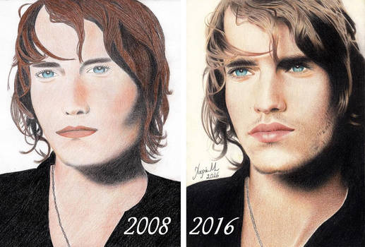 Redrawing of my 1st Color Portrait   2008- 2016