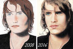 Redrawing of my 1st Color Portrait | 2008- 2016 by CharaMouschou