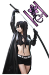 Render Cosplay Black Rock Shooter