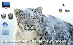 Snow Leopard Theme for Win 7 by mav3