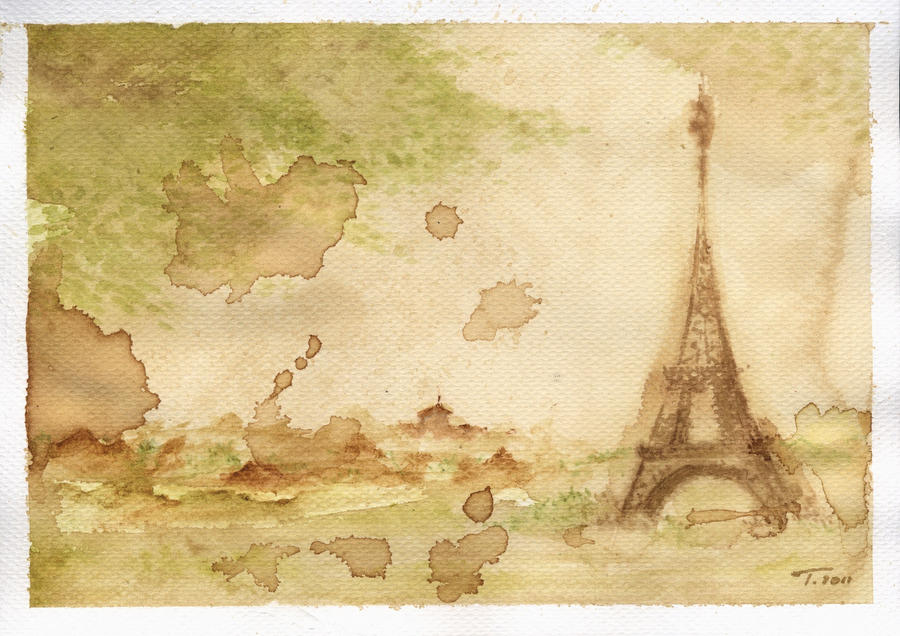 Watercolour tower by Japaneska