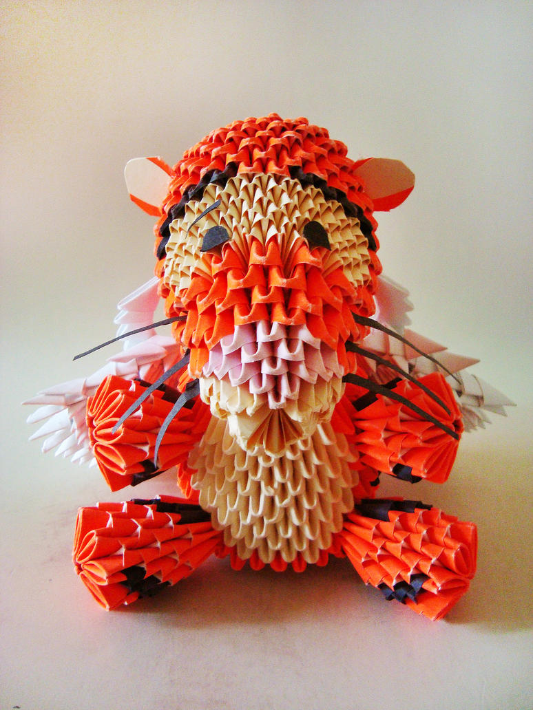3d origami winged tigger by weezaround on deviantart 3d origami winged tigger by weezaround jeuxipadfo Images