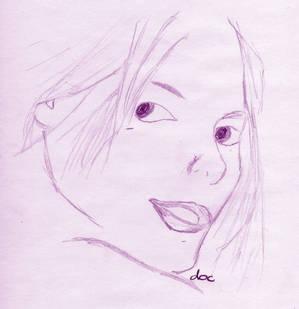 Sepia Girly Face